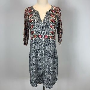 Anthropologie Tiny Mixed Print Dress